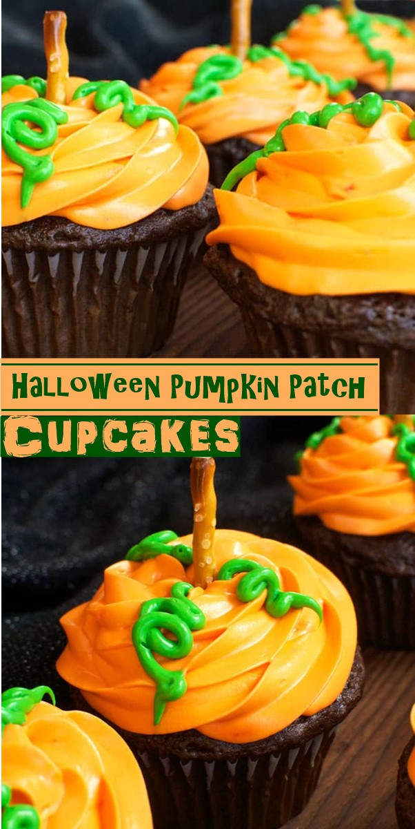 Pumpkin Patch Cupcakes #halloweenrecipes