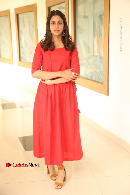 Actress Lavanya Tripathi Latest Pos in Red Dress at Radha Movie Success Meet .COM 0004.JPG