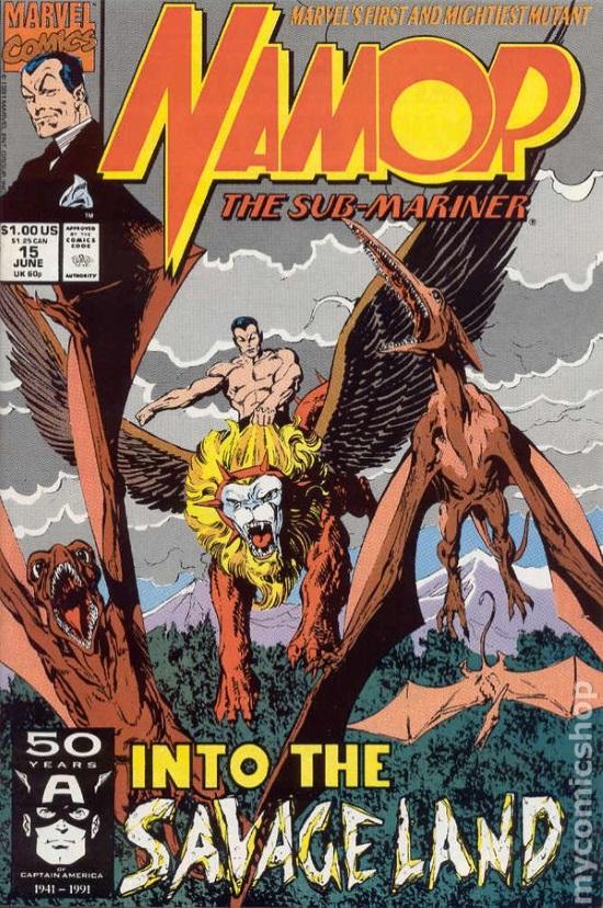 Portada de John Byrne para Namor the Sub-Mariner Vol 1 #13