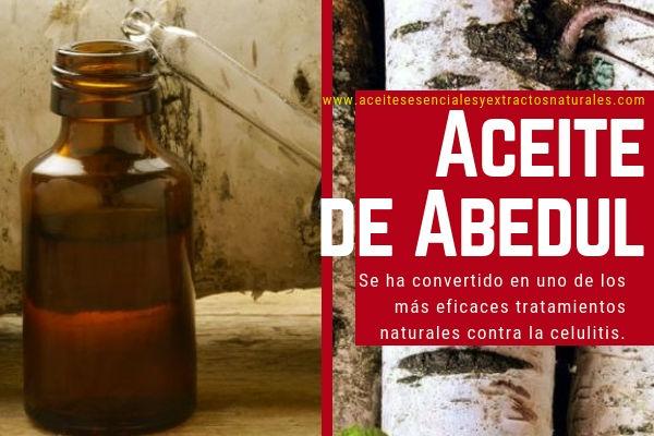 El Aceite de Abedul es uno de los tratamientos contra la Celulitis