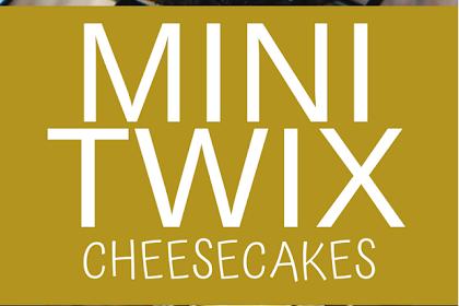 MINI TWIX CHEESECAKES