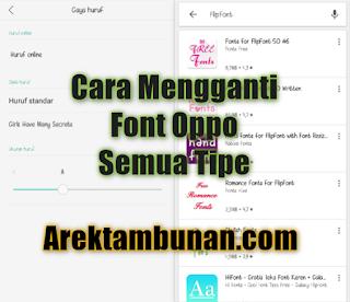Cara Mengganti Font Oppo Semua Tipe