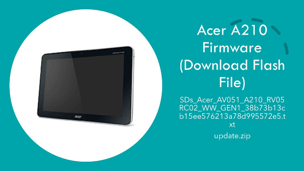 Acer A210 Firmware (Download Flash File)