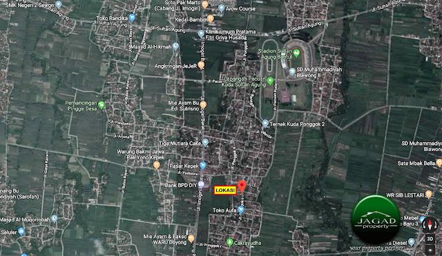 Tanah dekat Stadion Sultan Agung, Bantul