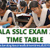 Kerala SSLC time table 2017 - 10th class public exam time table 2016-17 Kerala Pareekshabhavan