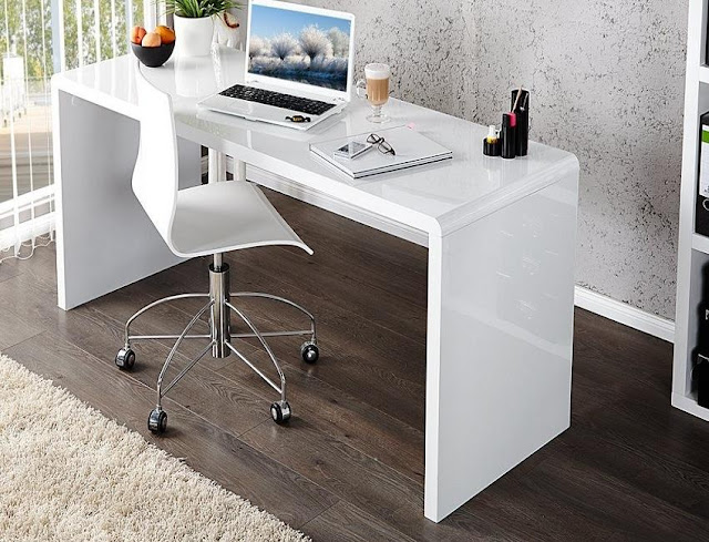 best white high gloss office furniture modern