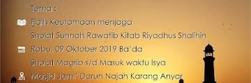 Jadwal Kajian Islam Fiqih Kitab Riyadhus Shalihin di Masjid Jami Darun Najah Karang Anyar Tarakan