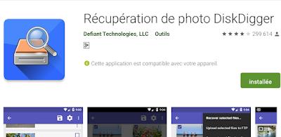 Application ou logiciel pour récupérer des fichiers supprimés et des images sur Android