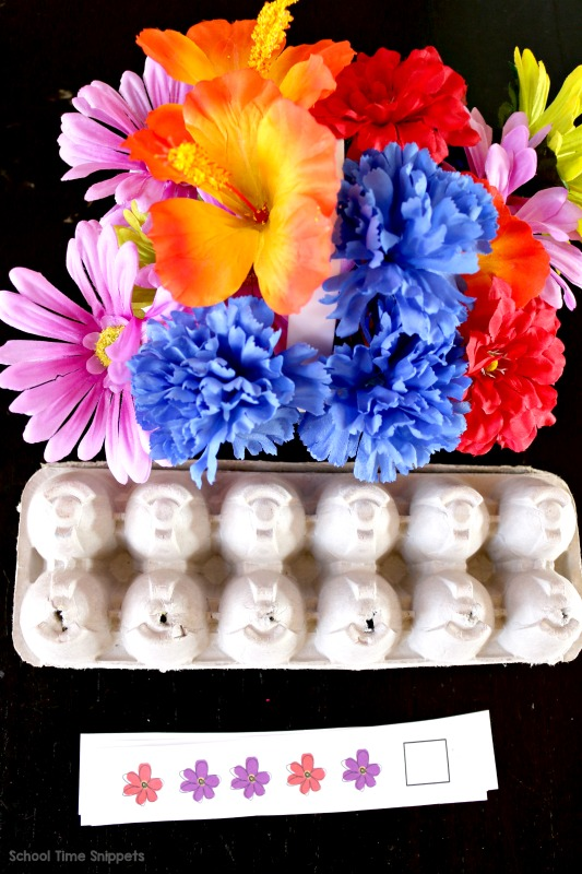 fun pattern activity using flowers