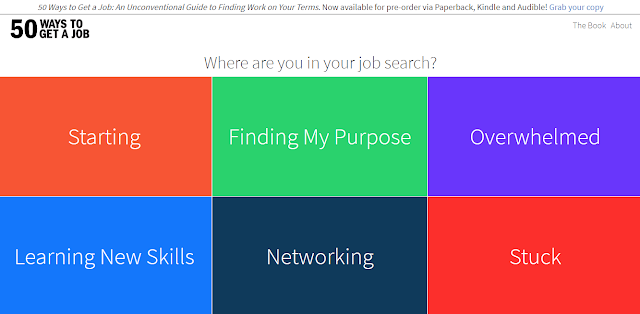 home page starting point of 50 ways to get a job