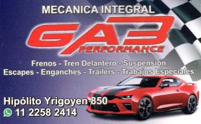 """Siempre en José C. Paz, en mecánica... """"GAB Performance"""". Excelencia para el automotor. Aviso%2BGAB"""