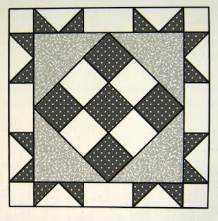 Lily Quilt Pattern block, Eagle's Nest quilt block