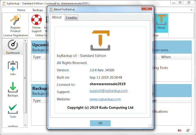Screenshot IvyBackup 3.0.4 Rev 34500 Full Version
