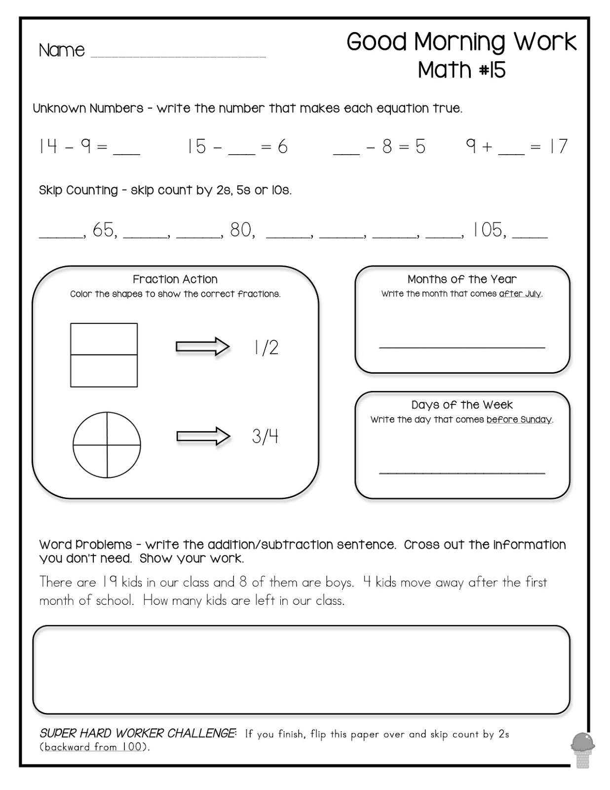 Friends Worksheet For Second
