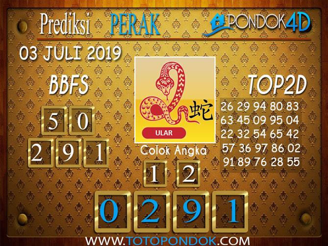 Prediksi Togel PERAK PONDOK4D 03 JULI  2019
