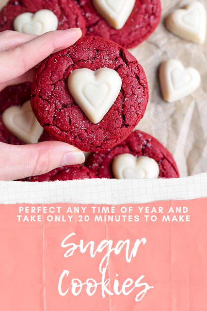 Red Velvet Sugar Cookies #sugarcookies #redvelvet