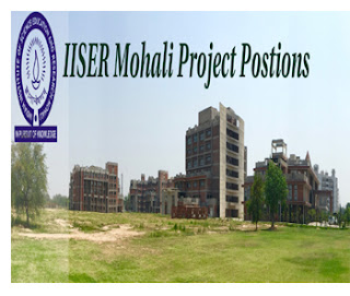 IISER Mohali Recruitment 2018 For Project Assistant In Chemistry Research Project
