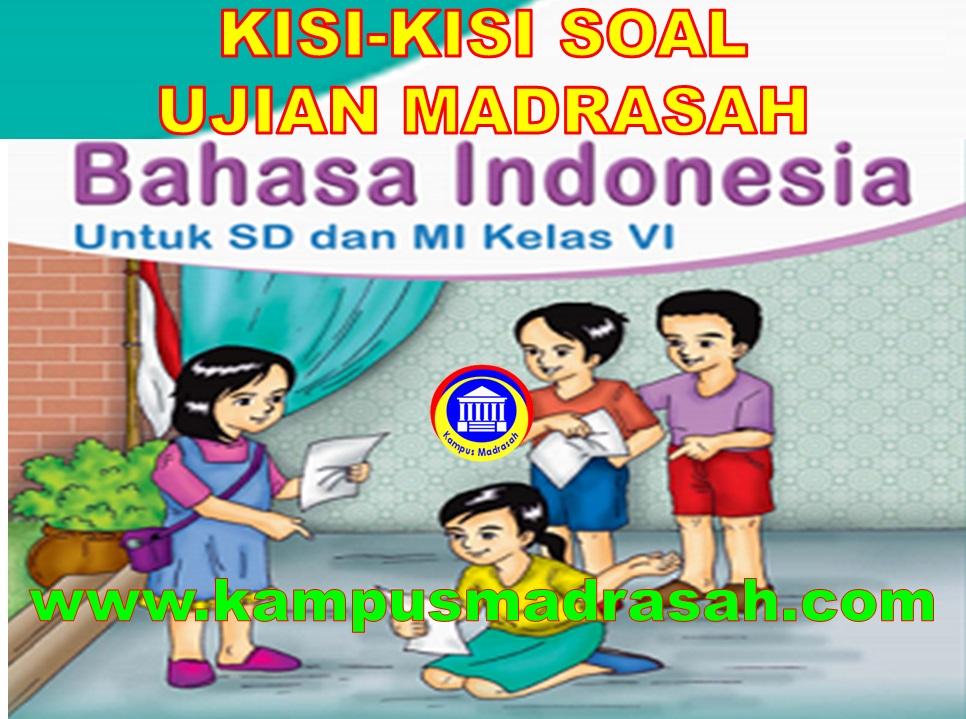 Kisi-kisi Ujian Madrasah Bahasa Indonesia