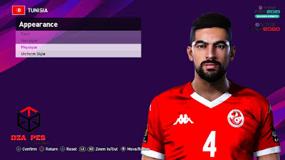 PES 2021 Faces Yassine Meriah by Dzayer PES