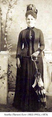 Image of Amelia (Turner) Leer (1852-1915), undated.