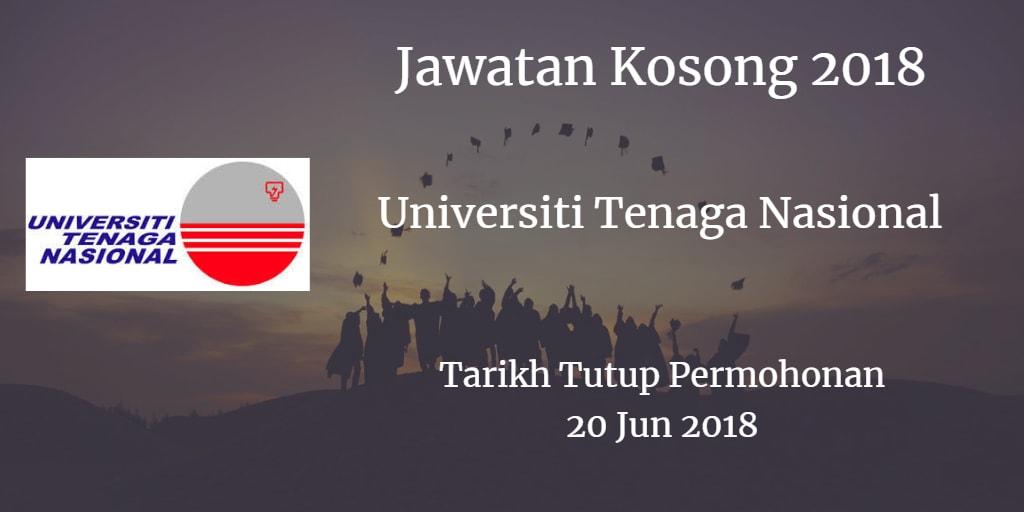 Jawatan Kosong UNITEN 20 Jun 2018