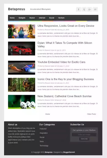 betapress amp blogger template 2021