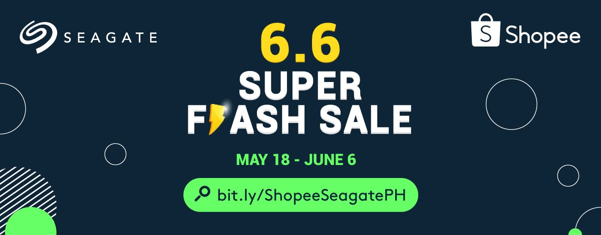 Seagate offers amazing exclusive deals in Shopee 6.6 Super Flash Sale