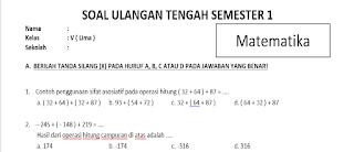 Soal UTS Matematika Kelas 5 SD Semester 1 dan Kunci Jawaban