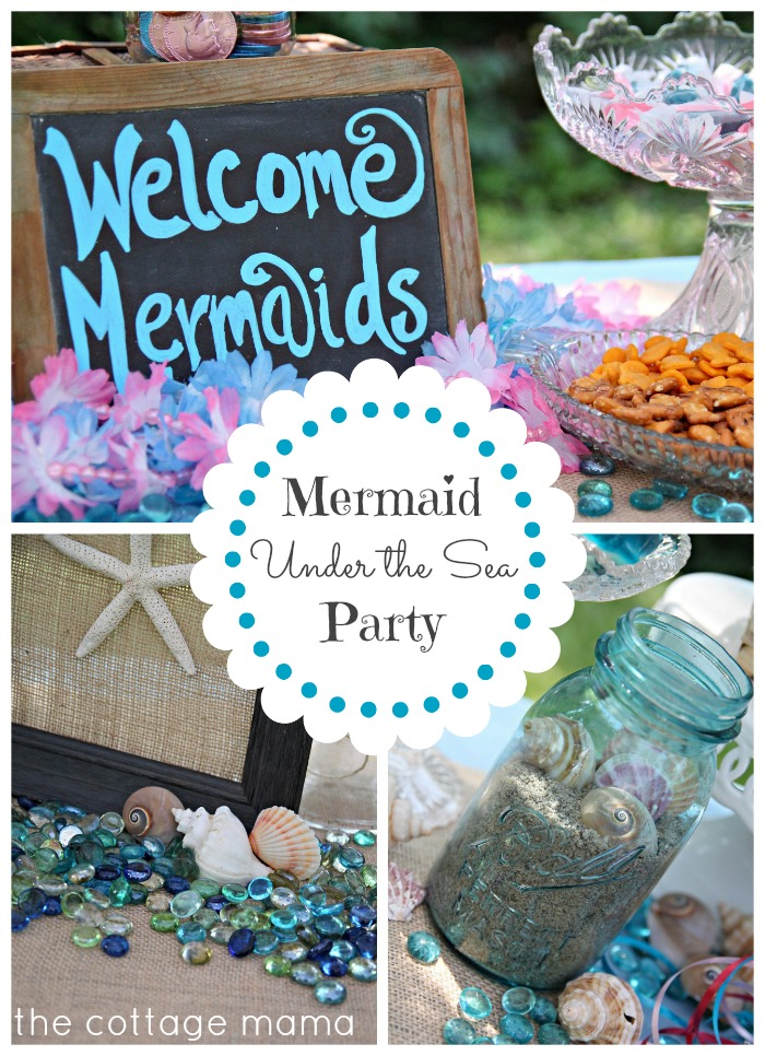 Mermaid Under the Sea 4th Birthday Party with Free Printable - The
