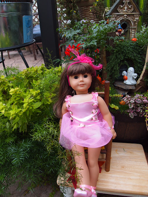 Little jo's Halloween Doll Party in the Fairy Garden