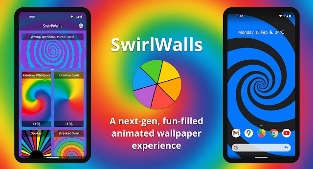 SwirlWalls brings fun spiral live wallpapers to your Android device