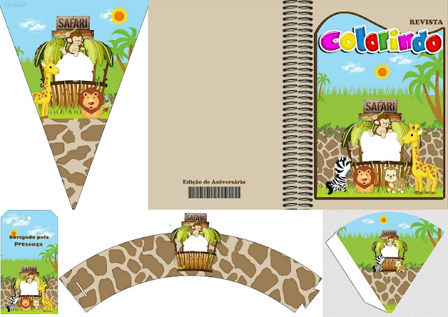 Safari Babies: Free Party Printables.
