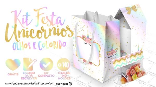 Minha Festa De UnicÓrnio: Unicorn Temalı Parti Pankartları