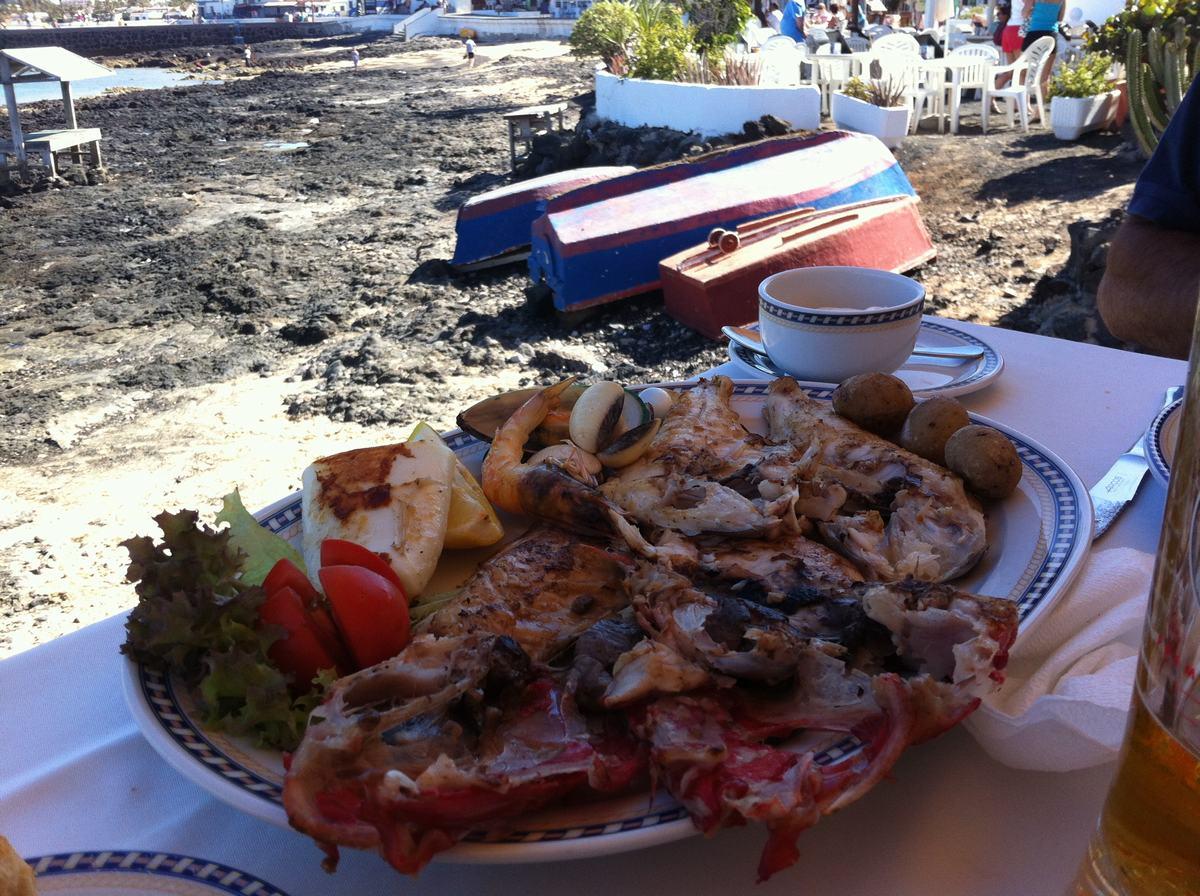 parrillada canaria, restaurante el Anzuelo, Corralejo