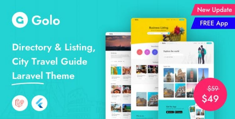 Golo v1.1.6.1 - Directory & Listing, City Travel Guide Laravel Theme