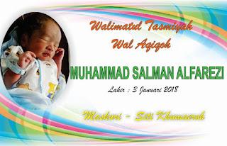 Template Kartu Nama Bayi Walimatul Aqiqoh dan Tasmiyah (Pemberian Nama Bayi)
