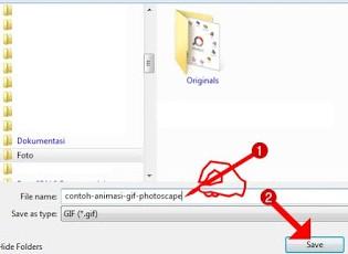 Beri nama animasi GIF Anda dan simpan