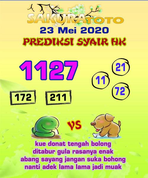 Prediksi HK Malam Ini 23 Mei 2020 - Sakuratoto