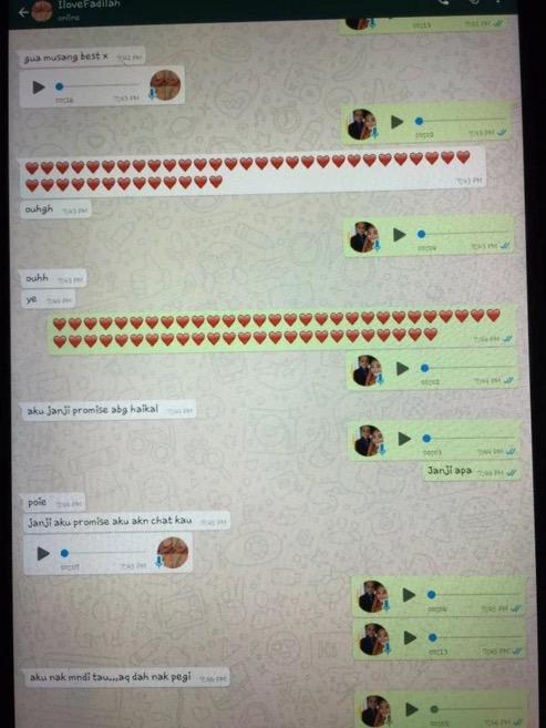 Perbualan WhatsApp Budak 9 Tahun yang Romantik