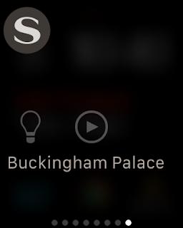 image of savant iwatch app glances page