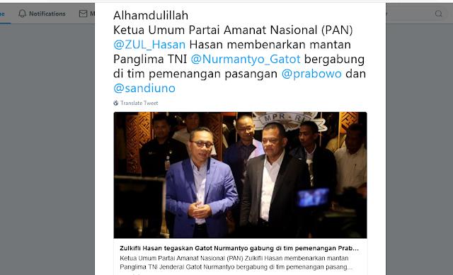 Semakin Ditakuti ! Gatot Nurmantyo Kini resmi bergabung dengan Prabowo!