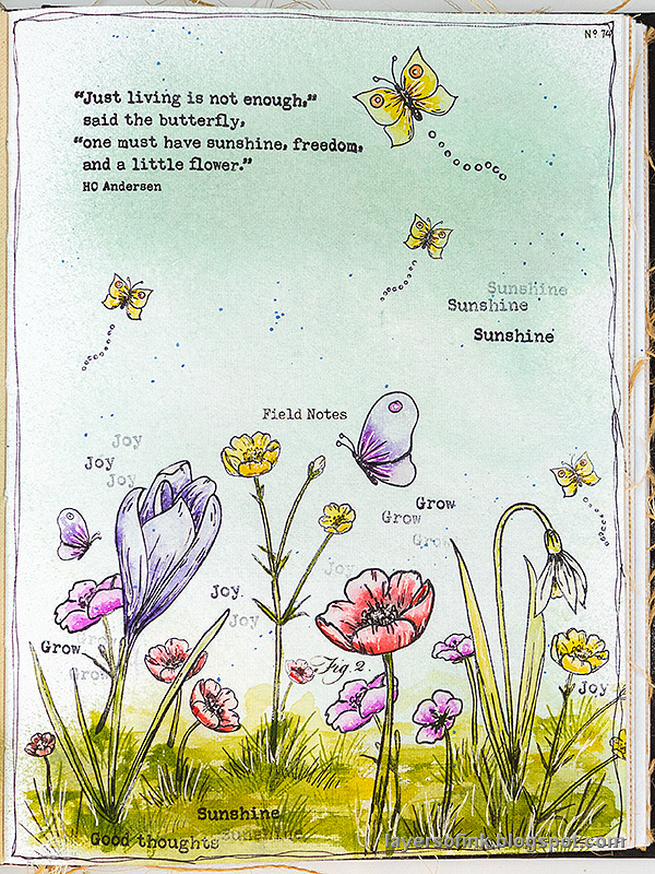Layers of ink - Thoughtful Flowers Watercolor Garden Tutorial by Anna-Karin Evaldsson.