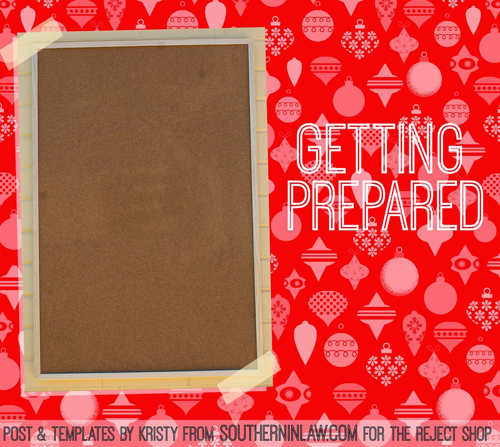 How to make a DIY Advent Calendar from a Cork Board