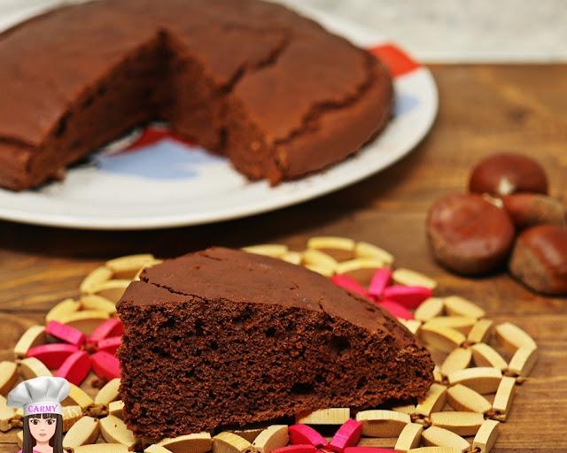 torta con farine di castagne e cacao