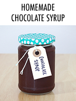 Easy chocolate syrup recipe - perfect for iced coffee