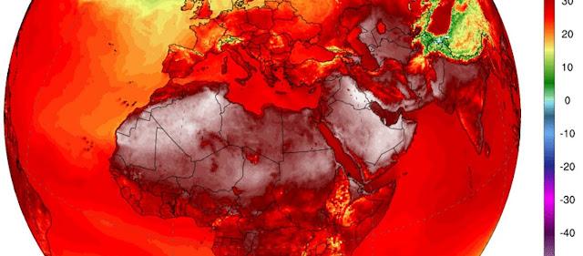 Προβλέπεται τριήμερο-«φωτιά» με θερμοκρασίες έως και 45 βαθμούς Κελσίου σε όλη την Ευρώπη