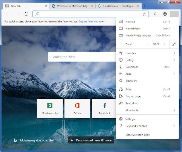 Microsoft Edge Chromium per Windows 7