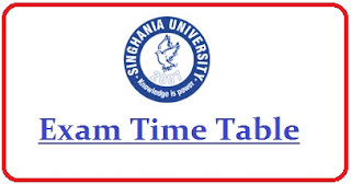 Singhania University Date Sheet 2020