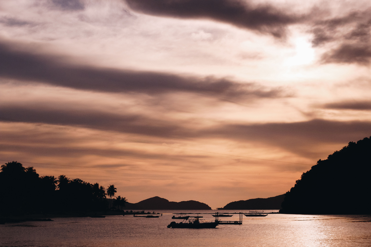 Photo of Sunset at Las Cabanas in El Nido, Palawan