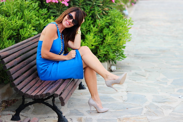 Versace Collection 2015 -  Azul klein - looks 2015 - Chanel sunnies - Fashion Blogger- Boutique Ibiza Guardamar